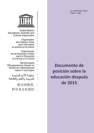 Documento de posición sobre la educación después de 2015