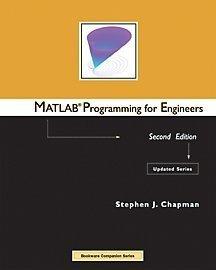 Programming pdf matlab for engineers chapman