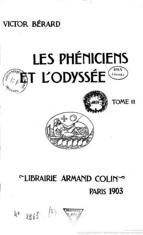 les pheniciens et lodyssee tomes 1 et 2