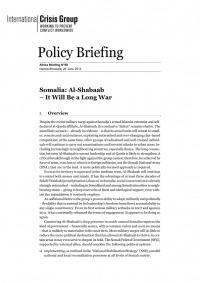 Somalia: Al-Shabaab - It Will Be A Long War