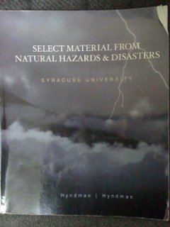 Select Material From Natural Hazards and Disasters - Syracuse University