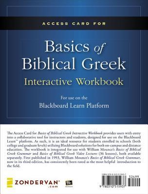 Basics of Biblical Greek Interactive Workbook