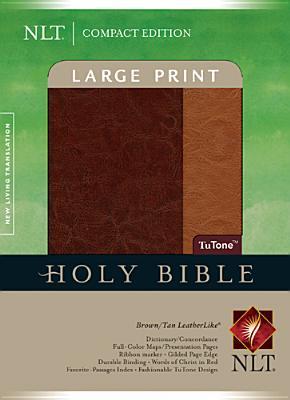 Compact Edition Bible Nlt, Large Print, Tu Tone (Compact Edition: Nltse)