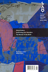 """World Orders: Confronting Carl Schmitt's """"The Nomos of the Earth"""""""