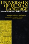 Universals of Human Language, vol. 3: Word Structure