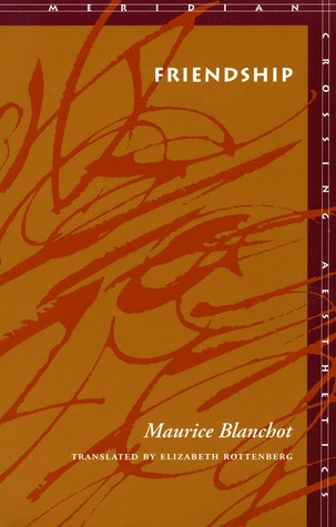 Friendship by Maurice Blanchot