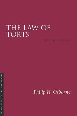 Law of Torts, The. Essentials of Canadian Law Series.