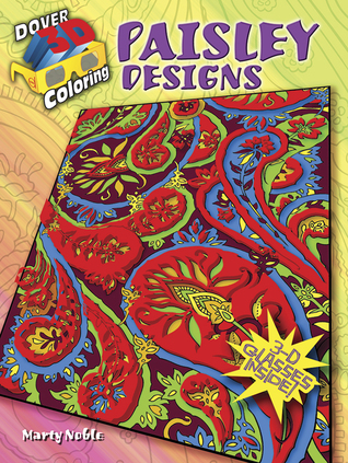 3 D Coloring Book Paisley Designs