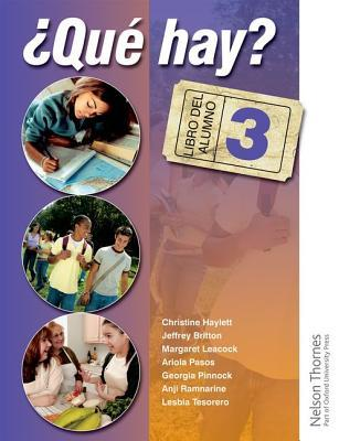 Que Hay?: Student's Book and Audio CD Level 3: Junior Secondary Spanish for the Caribbean