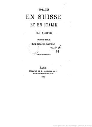 Voyages en Suisse et en Italie
