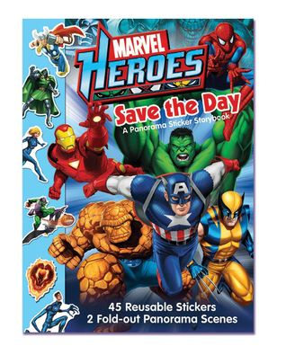 Marvel Heroes Save the Day A Panorama Sticker Storybook