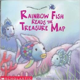 Rainbow Fish Reads the Treasure Map