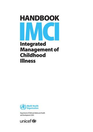 Handbook IMCI: Integrated Management of Childhood Illness