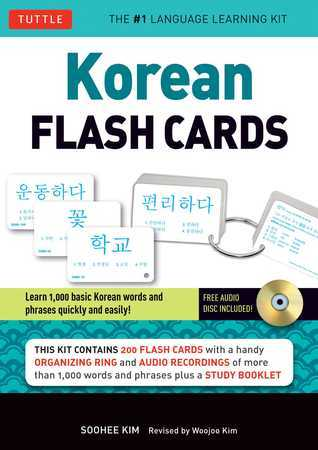 Korean Flash Cards Kit: Learn 1,000 Basic Korean Words and Phrases Quickly and Easily! (Hangul & Romanized Forms)