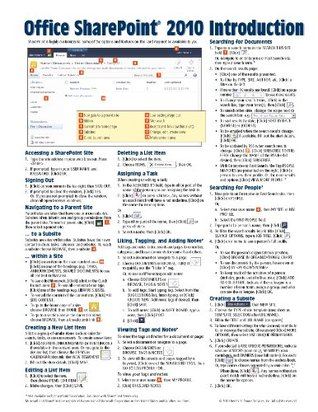 Microsoft SharePoint 2010 Quick Reference Guide: Introduction