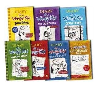Diary of a Wimpy Kid: Book Set #1-6 + DIY