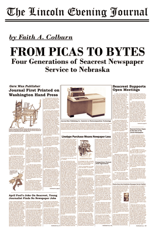 From Picas to Bytes: Four Generations of Seacrest Newspaper Service to Nebraska