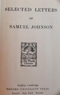 Selected Letters Of Samuel Johnson