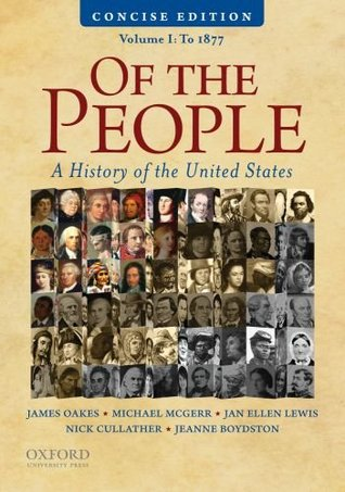 Of the people concise edition, volume i 10 edition (9780195390735.