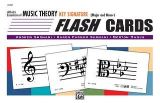 Essentials of Music Theory Major and Minor: Flash Cards - Key Signature