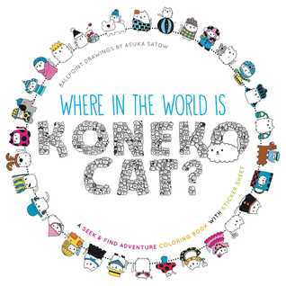 Where in the World Is Koneko Cat? Coloring Book