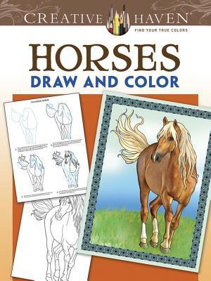 Creative Haven Horses Draw and Color
