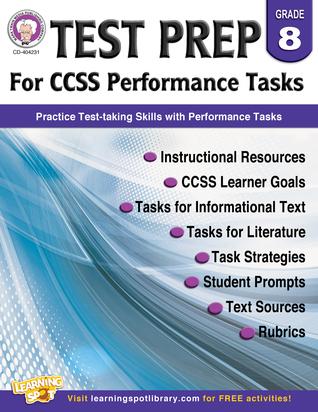 Performance Tasks for CCSS, Grade 8