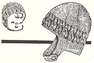 Knit Child's Helmet Hat Bonnet Vintage Knitting Pattern EBook Download