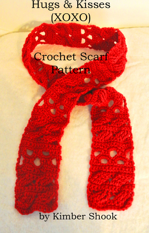 Hugs & Kisses (XOXO) Valentine Crochet Scarf Pattern