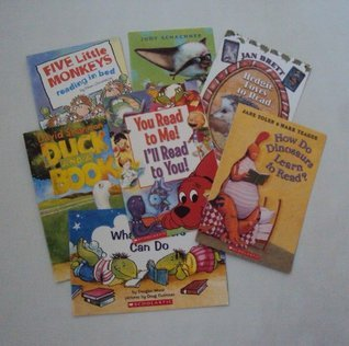 Book Set for Kids (12): How do Dinosaurs Learn to Read - You read to me, I'll Read to you - Duck and a book - Five Little Monkeys Reading in Bed - Skippy Jones - Hedgie Loves to Read - Froggy Loves Books - Clifford Goes to School (The Unofficial Box Set)