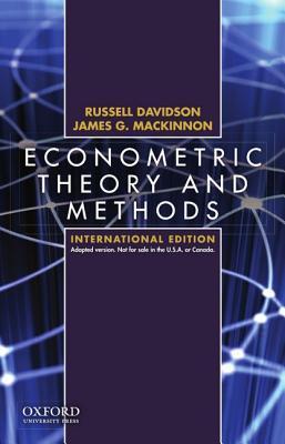 econometric theory and methods by james g mackinnon rh goodreads com Econometrics Difficulty Econometrics Questions