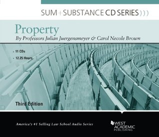 Juergensmeyer's Sum and Substance Audio on Property, 3d (CD)