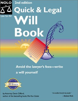 Quick legal will book with cdrom by denis clifford solutioingenieria Choice Image