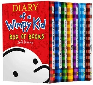 Diary of a Wimpy Kid Box of Books: Set #1-7 + Sticker Sheet