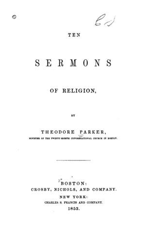 Ten Sermons of Religion