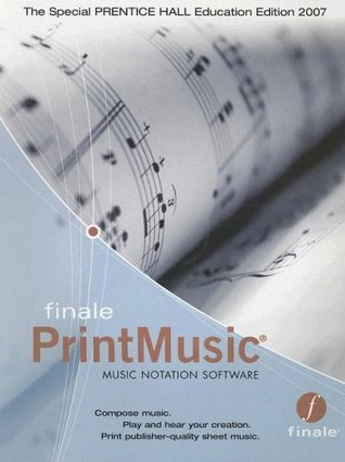 Finale PrintMusic Music Notation Software for Elementary Harmony: Theory and Practice