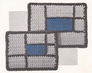Mid-Century Modern Hot Plate Mats Vintage Crochet Pattern EBook Download