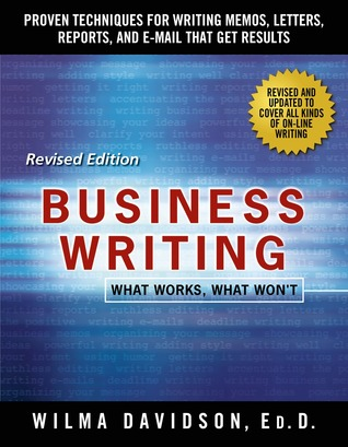 Business Writing: What Works, What Won't