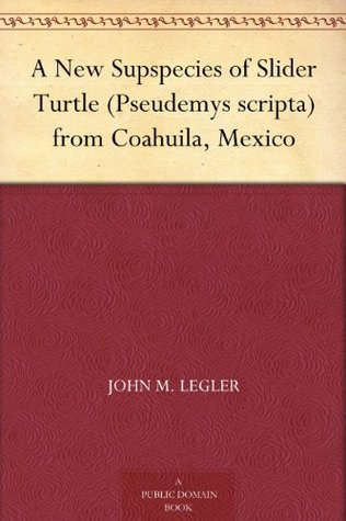 A New Supspecies of Slider Turtle (Pseudemys scripta) from Coahuila, Mexico