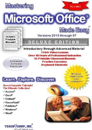 Mastering Microsoft Office Made Easy Training Tutorial for v. 2010, 2007, 2003, 2002 (XP), 2000 & 97 - Video tutorials in Access, Excel, Outlook, ... Word - e Book Manual Guide from Professor Joe