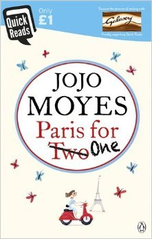 Book cover Paris for One by Jojo Moyes, bedside books, reading list