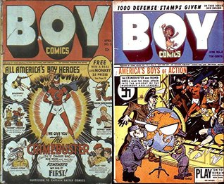 Boy Comics. Issues 3 and 4. America's Boy heroes. Bombshell, Young Robin Hood, Yankee Longago, Pepper Casey, Swoop storm and more. Golden Age digital comics Heroes and Heroines.
