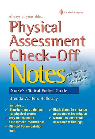 Physical Assessment Check-Off Notes Nurse's Clinical Pocket Guide