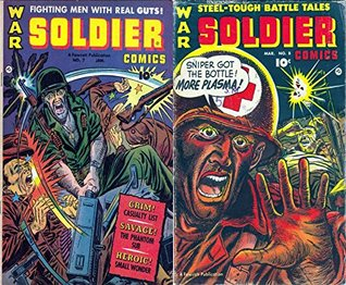Soldier Comics. Issues 7 and 8. Fighting men with real guts. Grim, savage, heroic. Features casualty list, the phantom sub, small wonder and more. Golden Age Digital Comics Military and War.