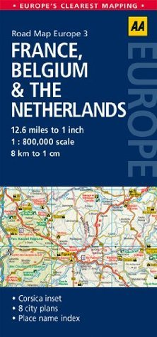 Road Map France, Belgium  the Netherlands