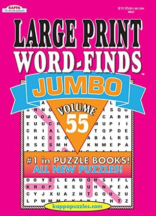 Jumbo Large Print Word Find Puzzle Book-Vol.55