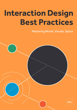 Interaction Design Best Practices Words Visuals Space