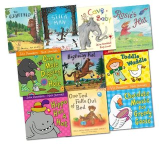 Julia Donaldson Gruffalo Collection 10 Books Set (The Gruffalo, Stick Man, Cave Baby, One Mole, Hippo Has A Hat, Chocolate Mousse For Greedy Goose, Rosie's Hat, One Ted, Toddle Waddle)