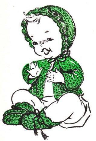 Scallop Ruffle Baby Set Layette Vintage Crochet Pattern EBook Download