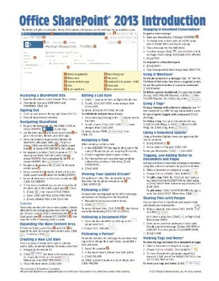Microsoft SharePoint 2013 Quick Reference Guide: Introduction by Beezix, Inc.